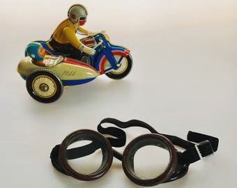 Vintage Safety Goggles Motorcycle Steam Punk Riding Glasses