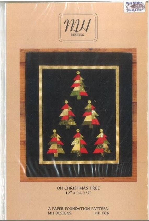Mh Designs Oh Christmas Tree Quilt Wall Hanging Pattern From Brycat