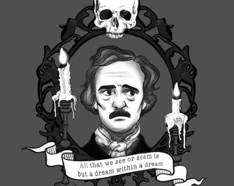 Edgar Allan Poe Sticker