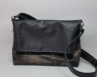 Black shoulder bag | Etsy