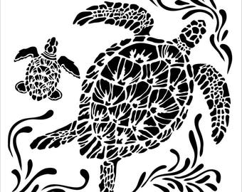 Sea turtle stencil  Etsy