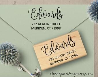 Romantic Address Stamp, Custom Address Stamp, Wedding Address Stamp, Calligraphy Address Stamp, Return Address Stamp, Wedding Gift  139