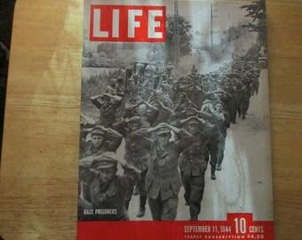 Vintage Life Magazine Sept. 11 1944 NAZI SOLDIERS