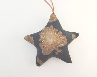 Christmas Star, Christmas Ornament, Star Ornament,  Pillow Ornament, Stuffed Star, Tree topper, Christmas decor, Gift Topper