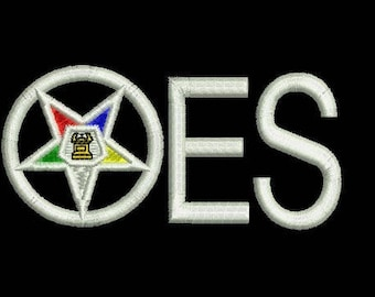 OES Order of the Eastern Star embroidery design