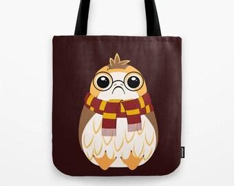 Star Wars Tote Bag, Porg Tote Bag, Harry Porgger Bag, The Last Jedi Shoulder Bag, Star Wars Bag, Porg Purse, Star Wars Purse