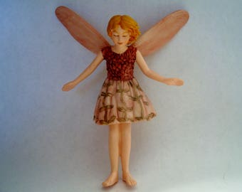 Wild Thyme Fairy - Flower Fairy - Fairy Garden - Terrarium - Miniature Gardening - Accessories - Cicely Mary Barker Fairy
