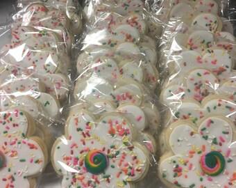 Sprinkle flower cookies