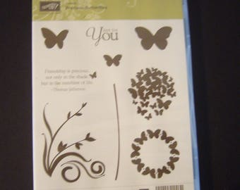 STAMP Set - Precious Butterflies by Stampin Up - Rubber Stamp Set - Scrapbooking