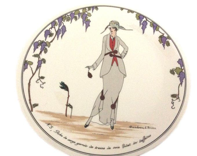 Salad Plate, Design 1900, Villeroy and Boch, Luxembourg, Gift For Christmas, Tableware, Old Fashioned Dress Design Plate, Gift For Her