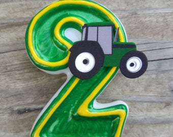 Tractor Birthday Candle