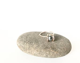 Luna Ring/Rose Gold with Steel