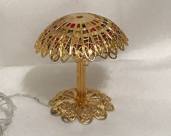"Dollhouse Miniature 1"" Scale Table Lamp by Luminations by Mr. K"