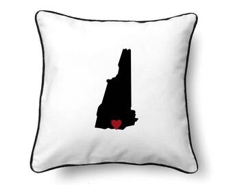 New Hampshire Pillow - New Hampshire Gift - New Hampshire Map - NH State Map