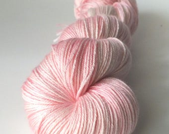 Skein of superwash Merino Wool / silk - Fingering / Sock hand - dyed colors It's so fluffy