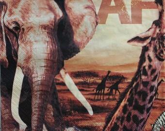 Napkin AFRIKA