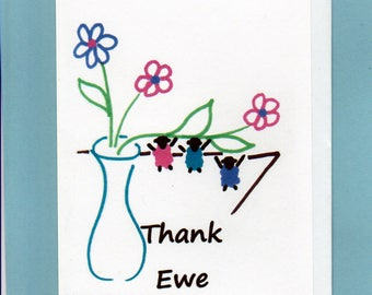 Thank You Card / Thank Ewe