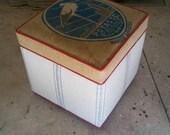 Balance on 2 custom cube ottomans