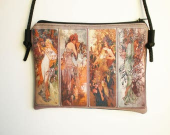 Shoulder bag, crossbody bag, printed bag, little bag, Alphonse Mucha, Mucha Art, Mucha Bag