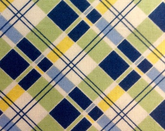 Croquet Bias Plaid by DS Quilts Collection for Fabric Traditions/Quilting Sewing Fabric/Out of Print/Medium Scale Print/HALF Yard Pricing