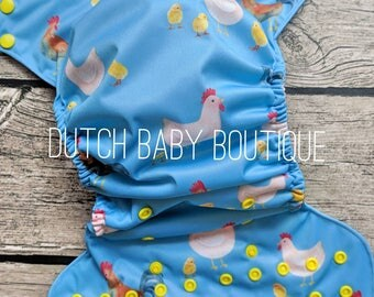 Chicken Crazy Cloth Diaper