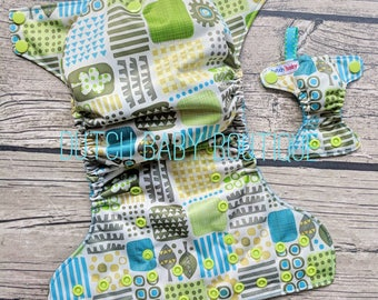 Art Deco Landscape Ai2 Cloth Diaper and Keychain