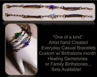 casual jewelry,everday jewelry,everday bracelet,girlfriend gift,March birthstone bracelet,march birthstone jewelry,girlfriend gift,