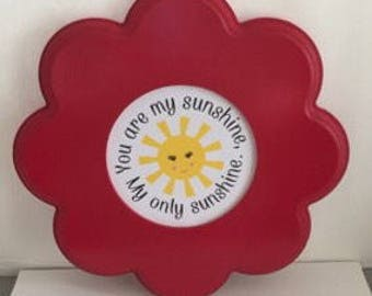 You Are My Sunshine Flower Wall Hanging Free Shipping Ready To Ship