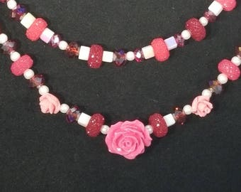 Pink Roses and Sugar Jewelry Set