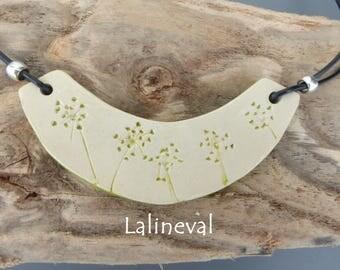 Torque ceramic green flower print