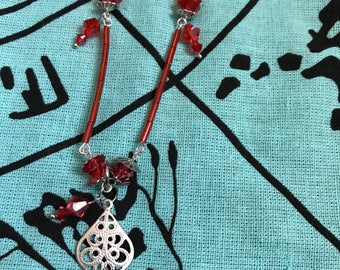 Red & Silver Jewelry Set