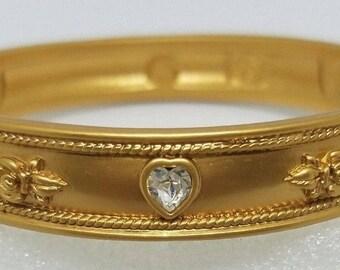 Elizabeth Taylor Bracelet - Love Blooms 22K Gold Plated - S1932