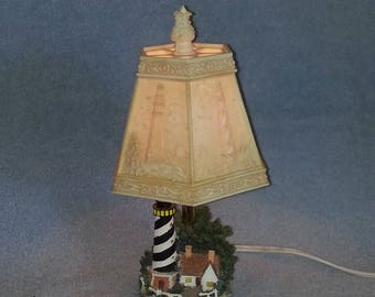Nautical Lamp with Lighthouse Theme - Lithopane Shade