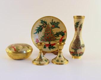 Brass Christmas Set - 5 pieces