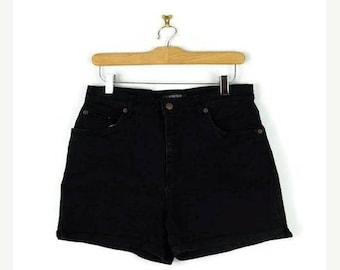 ON SALE Vintage  Black Denim Shorts from 90's/W28-30*