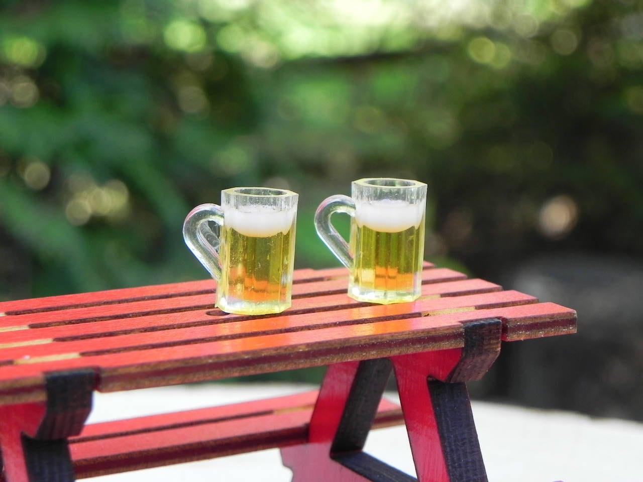 Miniature Beer Mugs Glasses Fairy Garden Miniatures