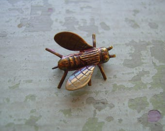 An unusual vintage insect brooch/pin circa 1930's-1940's - Bee/Honey Bee/Fly.