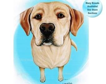 Yellow Lab - Yellow Labrador Retriever - Yellow Labrador Art - Yellow Lab Print - Yellow Lab Art - Labrador Retriever - Labs - Pet Portrait