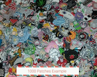 Bundles of 10, 25, 50, 75, 100, 200, 500, or 1000 Random Iron on Patches! Huge lot!