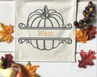 Monogrammed Pumpkin Fall Banner; Fall Home Decor; Fall Sign; Fall Decoration; Autumn Decor; Fall Leaves