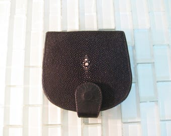 Sting Ray Folding Wallet Exceptional Rare Black Sting Ray Bill Fold