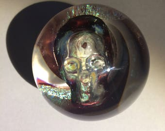 Skull Head Glass Marble