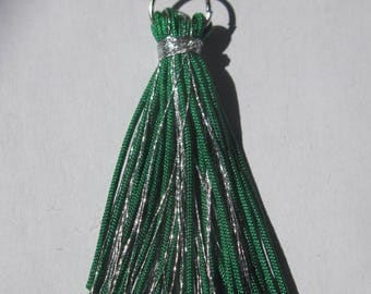tassel color in shiny metallic thread and synthetic (E10)