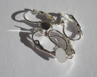 4 brackets earrings sleeper in metal-(BO152) tray-