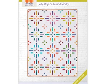 "Pattern ""Dashing Dots Quilt"" by Hunter's Design Studio (HDS049) Paper Pattern"