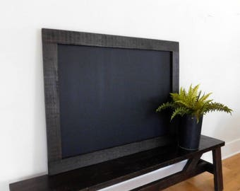 extra large framed chalkboard blackboard hand distressed wood industrial decor shown in - Extra Large Frames