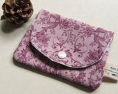 Pink Business Card Case, Small Wallet, Gift Enclosure, Credit Card Wallet, Gift Certificate Sleeve, GE16