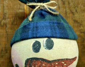 Snowman Head with Hat Ornament