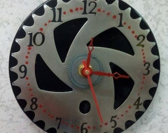 Re-purposed Bicycle Sprocket Wall Clock