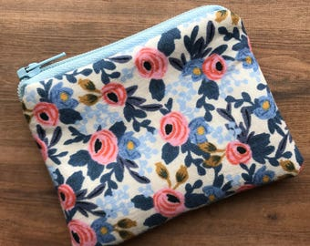 Small Zipped  Pouch - Coin purse - Purse - Coin Wallet